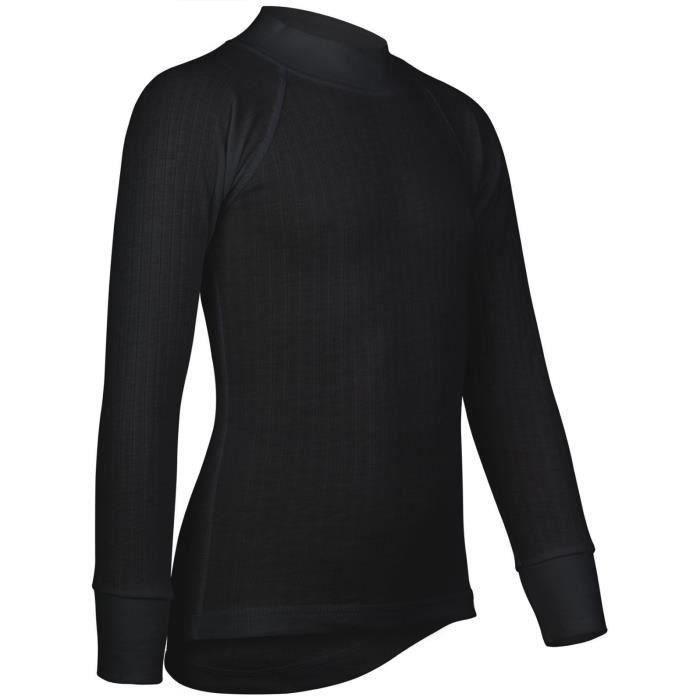 AVENTO Lot de 2 Sous-vêtements Thermiquess Manches Longues - Enfant mixte - Noir