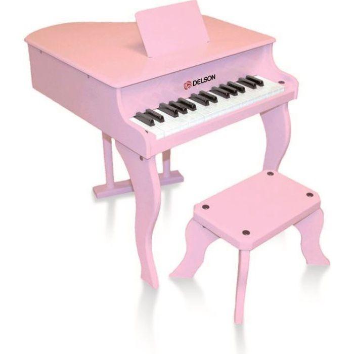 Piano à queue enfant rose delson 30 touches