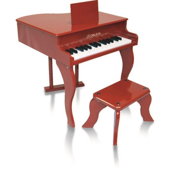 Piano à queue enfant rouge delson 30 touches
