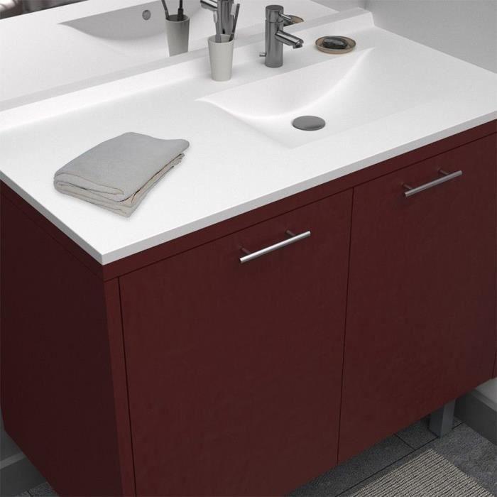 LAVABO - VASQUE CREAZUR Plan simple vasque droite 105cm