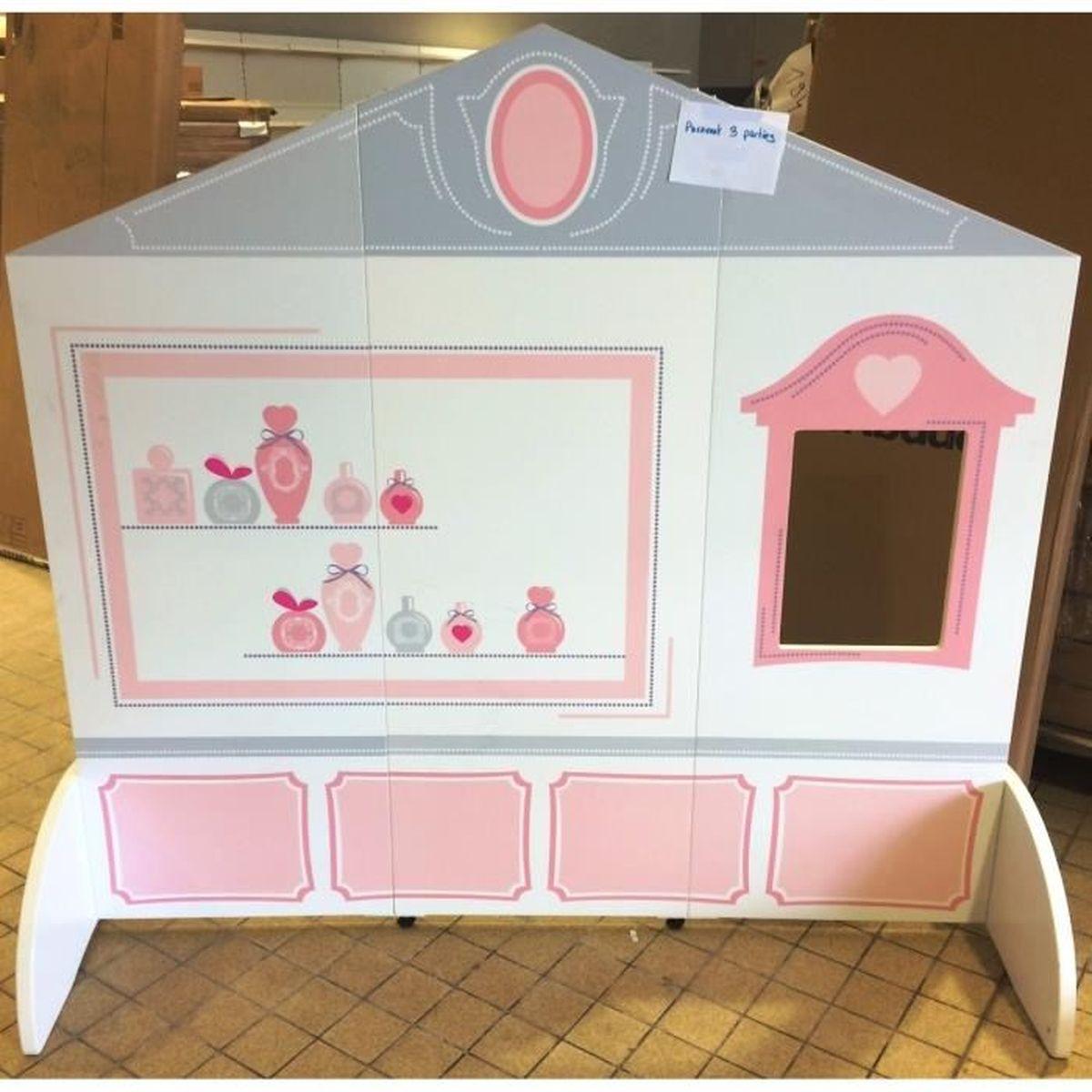Cloison mobile 3 parties chambre enfant pour fille - Achat / Vente ...