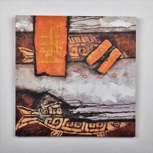 TABLEAU - TOILE Tableau déco Abstrait - Imprimé et peint à la main