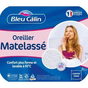 BLEU CALIN Oreiller MATELASSE 60x60cm