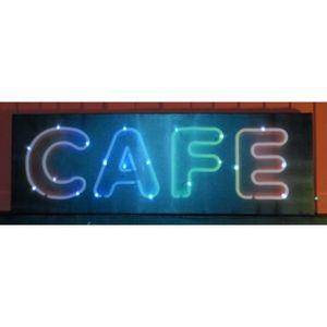 TABLEAU - TOILE TABLEAU DECO LED 30*90cm CAFE