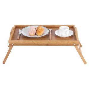 SUPPORT PC ET TABLETTE Plateau de lit en bois de bambou portable petit dé