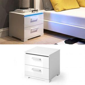 table de chevet metal blanc achat vente pas cher. Black Bedroom Furniture Sets. Home Design Ideas