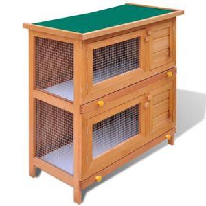 CLAPIER Magnifique Cage Clapier Exterieur en Bois pour Lap