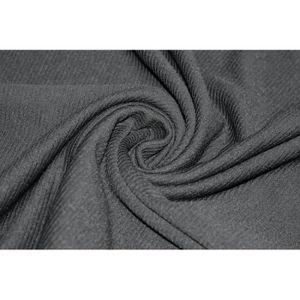 efbed1a0084e TISSU Tissu Côte de Cheval Noir (large) -Coupon de 3m