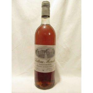 VIN BLANC sauternes château ménota liquoreux 1983 - bordeaux