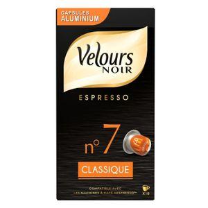 CAFÉ VELOURS NOIR Café classique Intensité 7 - 10 capsu