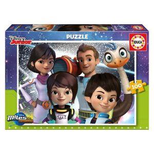 PUZZLE Puzzle 100 pièces : Miles et sa famille dans l'esp
