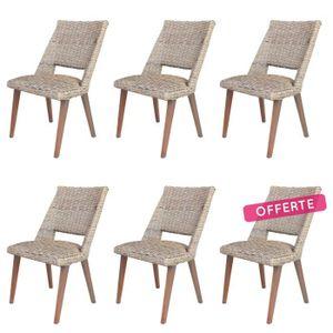 Chaise en kubu achat vente chaise en kubu pas cher for Chaise en rotin kubu