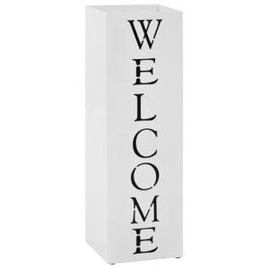 PORTE-PARAPLUIE vidaXL Porte-parapluie Welcome Acier Blanc