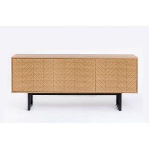 BUFFET - BAHUT  Buffet en bois avec motif  chevron Camden - Woodma