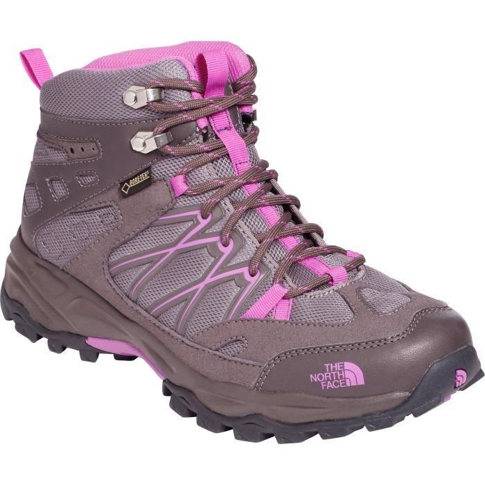 THE NORTH FACE Chaussure randonnée Terra mid GTX - Femme - Marron et violet