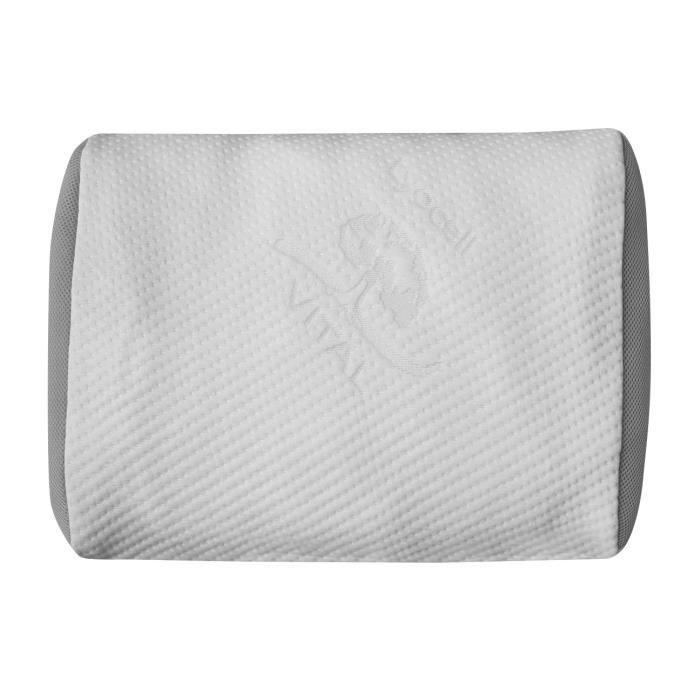 DORMIPUR Oreiller mousse à mémoire de forme Juno confort soft 30x50cm blanc