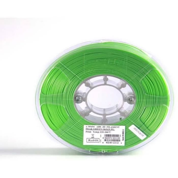ESUN Filament pour Imprimante 3D ABS - Vert - 3 mm - 1kg