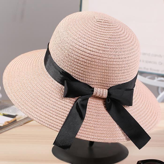 différemment haut fonctionnaire magasiner pour le meilleur Chapeau de Soleil Femme Bob Chapeau de Camping Voyage été Anti-UV Chapeau à  Large Bord Étanche Mode