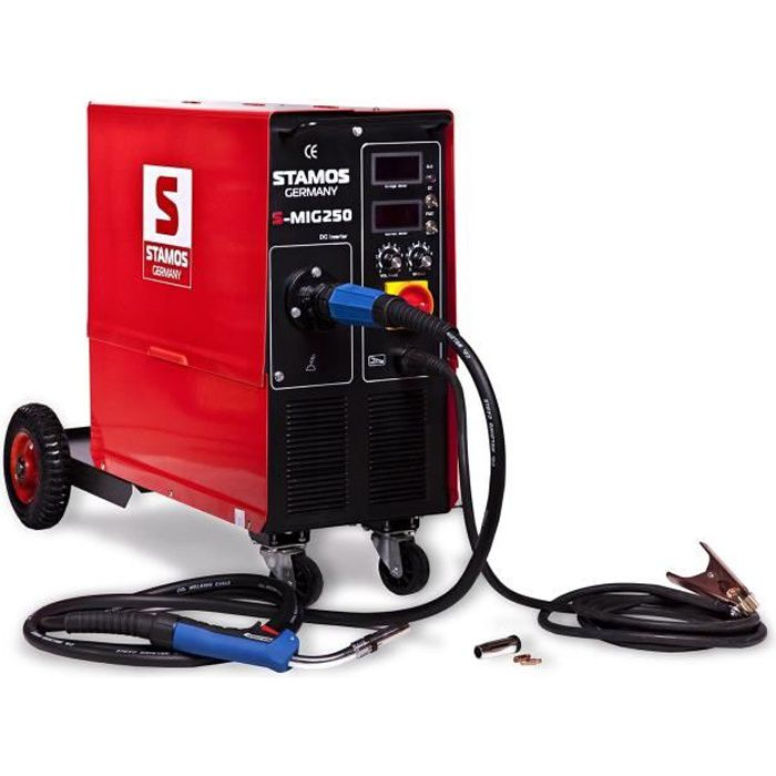 Poste à souder Mig Mag Alu Soudage Soudure Semi-Auto Fil Semi-Automatique  250A Stamos Welding S-MIG 250 b0201a68d2cd