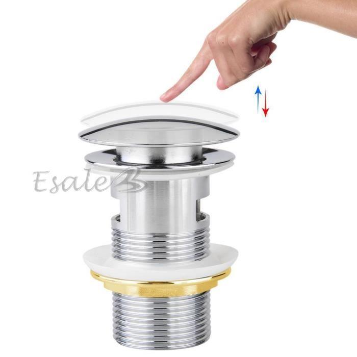 8cm Bonde Automatique Pop Up Pr Evier Lavabo Avec Trop Plein Achat