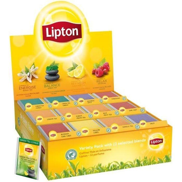 THÉ Lipton coffret thés et infusions 180 sachets