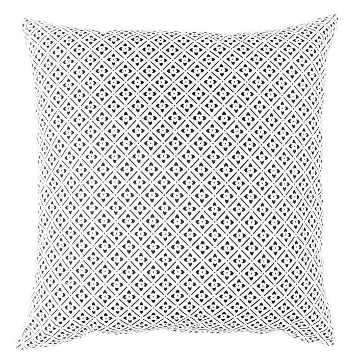 Coussin déco 100% coton imprimé CLOVER -