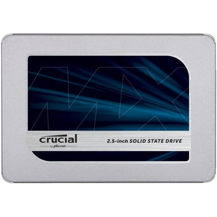 """DISQUE DUR SSD CRUCIAL - Disque SSD Interne - MX500 - 1To - 2,5"""""""