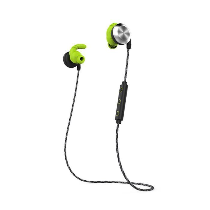 U2 Casque Bluetooth 4.1 Stéréo Mini Intra-auriculaires Sans Fil Sport Noir Et Vert