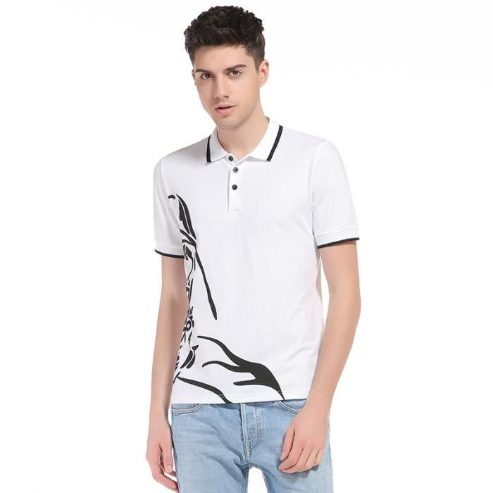 Marque Tee Manche Imprimée Homme T Gbf7y6 Luxe Casual Shirt Courte 9EHDI2