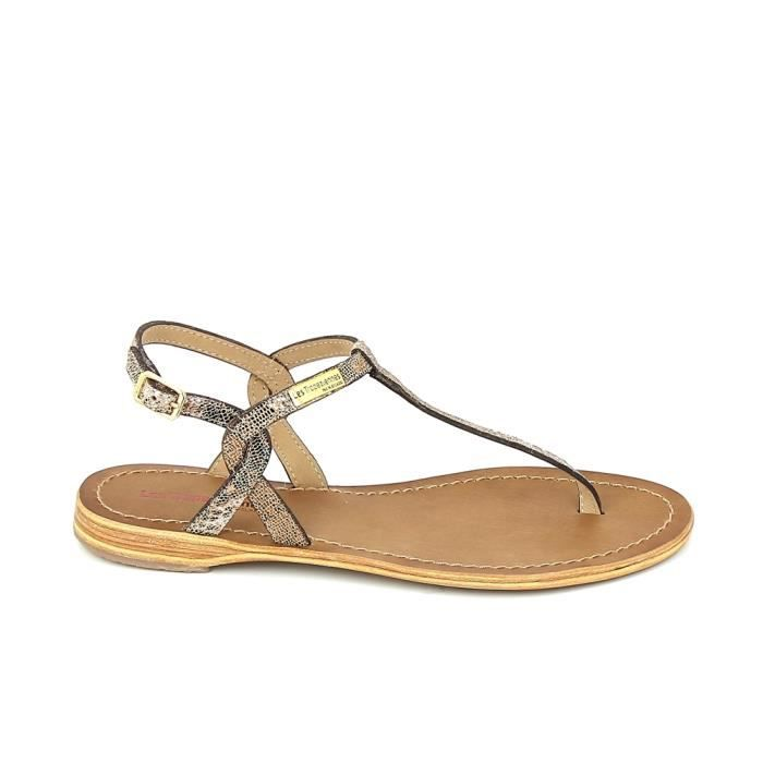 Nu pieds et sandales LES TROPÉZIENNES Billy Lezard Bronze cEWgpdIgg