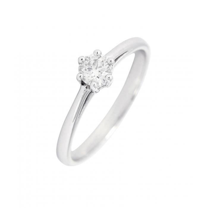9fc53ad0c142c Bague Or 750 Diamant ref 43607 Blanc - Achat / Vente bague - anneau ...