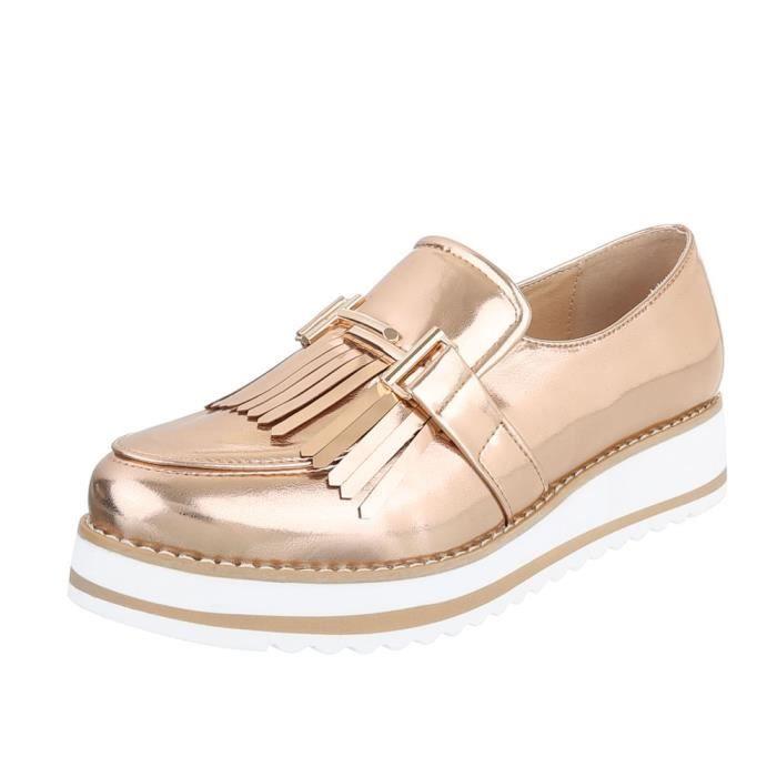 MOCASSIN Chaussures femme flâneurs mocassin rose or 41