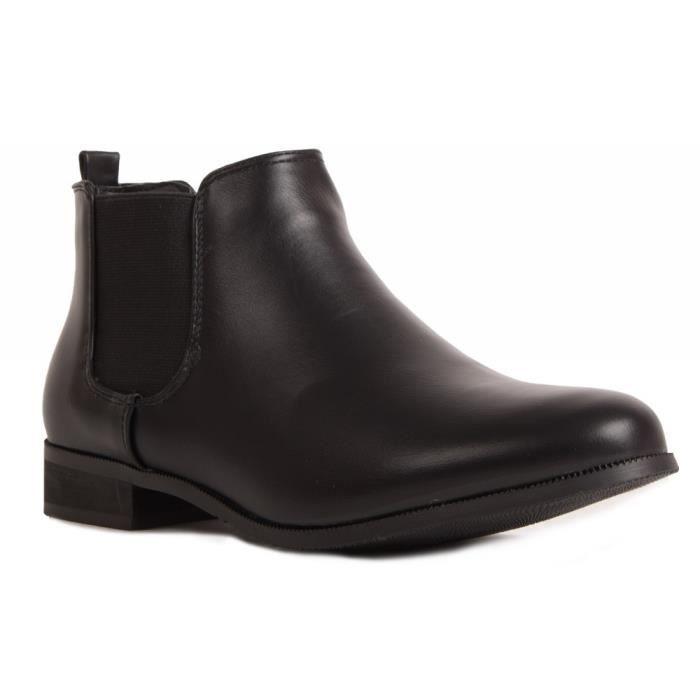 élastique talon 36 femme Boots petit basse avec chelsea amp; ZxRwSI01
