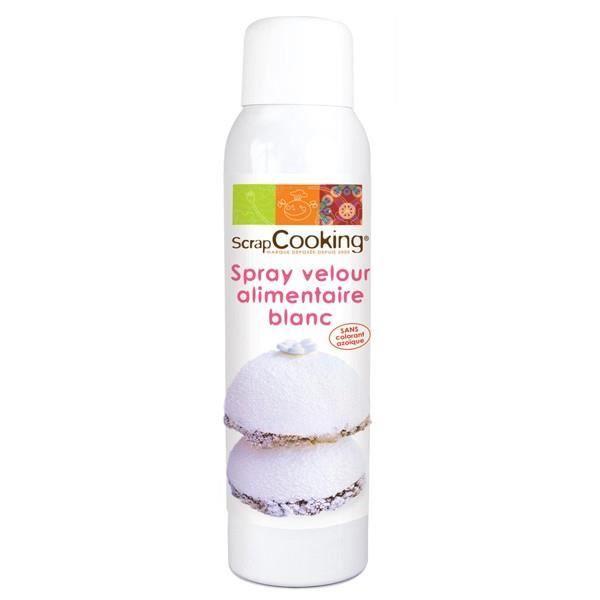 DÉCORATION PÂTISSERIE Spray pâtisserie Velours blanc 150 ml