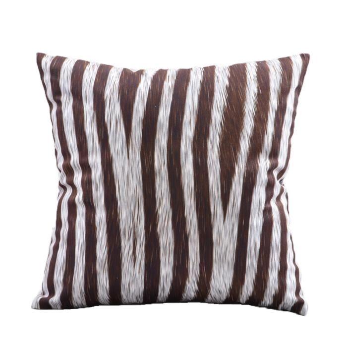 TOFERN Housse de Coussin Design Moderne Cotton Lin Écologique
