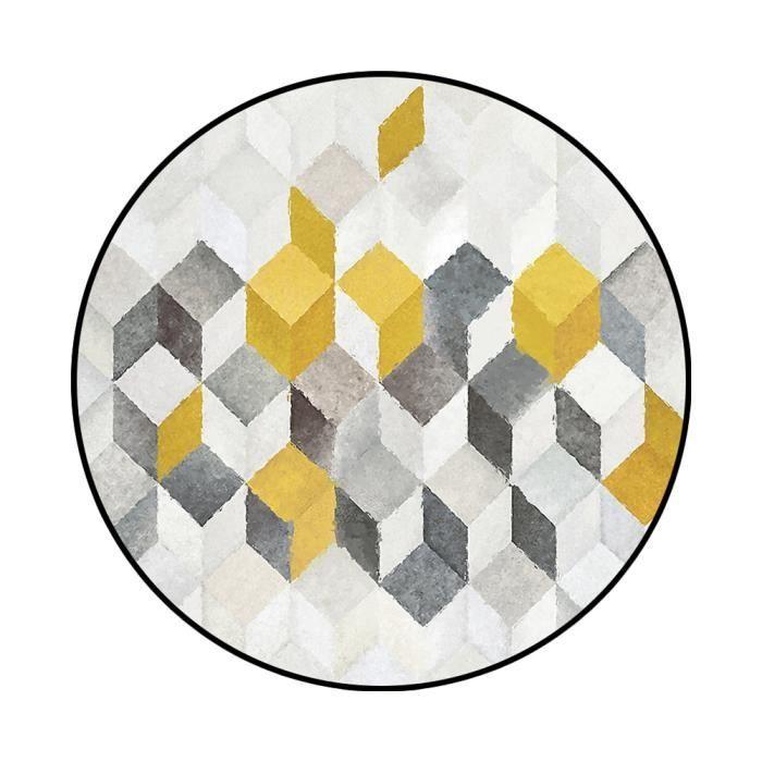 TAPIS tapis rond φ140cm tapis rond géométrique abstrait