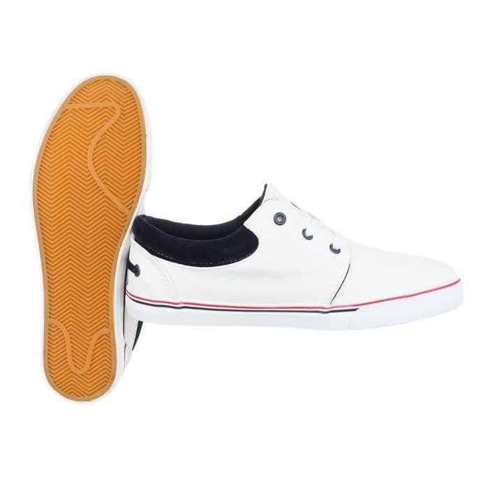 homme chaussures flâneurs Sneakers loisirs chaussures blanc 42