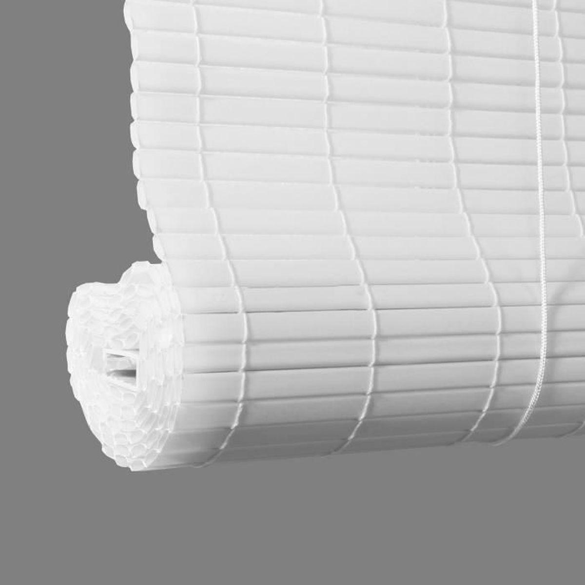 rideau blanc 45 cm largeur achat vente pas cher. Black Bedroom Furniture Sets. Home Design Ideas