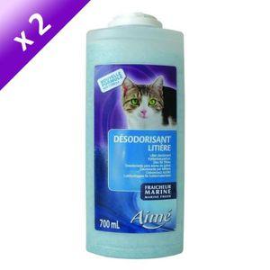Lot de 2 - AIME Désodorisant pour liti?re marine 700 ml - Pour chat