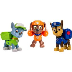PAT' PATROUILLE Pack 3 Figurines Sac ? Dos Transformable 2 : Chase, Zuma et Rocky
