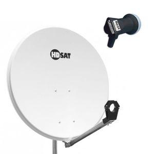 PARABOLE HDSAT Parabole satellite acier BLANCHE 80cm + LNB