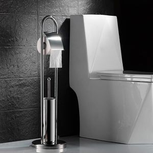 SERVITEUR WC Auralum Support porte de Papier avec Brosse Toilet