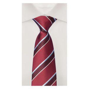 CRAVATE - NŒUD PAPILLON Cravate de Fabio Farini rayé en rouge-bleu-blanc