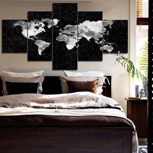 getek tableau multi panneaux mural carte du monde pas de. Black Bedroom Furniture Sets. Home Design Ideas