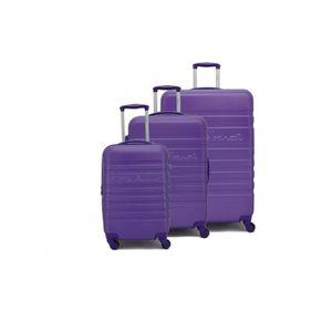 SET DE VALISES Set de 3 valises Rigides 4 roulettes Violet Little