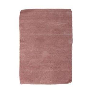 TAPIS CHENILLE Tapis en coton - 55x85 cm - Bois de rose