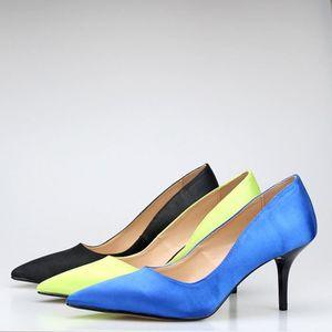 Femmes 35 46 Chaussures Pointu Marque 7cm Mode de mariage Talons Pompes Stilettos Toe femme Sparkling pour qBIwAw