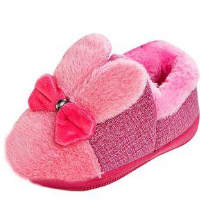 BOTTE Bébé Laine Bowknot Caoutchouc Semelle Souple Bottes de Neige Doux Berceau Chaussures Bottes Tout-Petits@VioletHM xSmz022