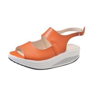SANDALE - NU-PIEDS Mode Femmes Shake Chaussures D'été Sandales Poisso