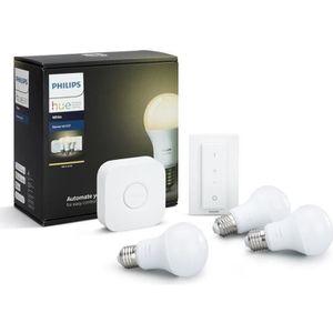 AMPOULE INTELLIGENTE PHILIPS HUE Kit de démarrage 3 ampoules White E27